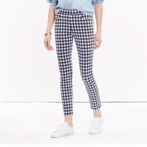 Madewell High Riser Gingham Crop Skinny Jeans 28